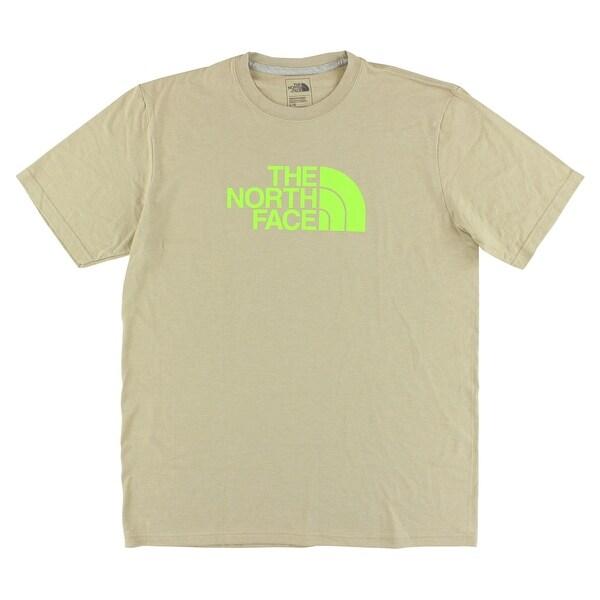aa902f3a7 The North Face Mens Half Dome T Shirt Tan - tan/bright green - m