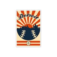 Detroit - Vintage MLB - 24x36 Gallery Wrapped Canvas Wall Art