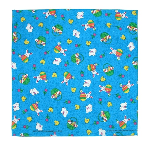 CTM® Bunny Patch Easter Print Bandana - one size