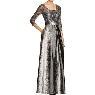 Kay Unger Womens Evening Dress Metallic Pleated|https://ak1.ostkcdn.com/images/products/is/images/direct/a2fd273bc6a34ee484a82c9ee6cd318b14167714/Kay-Unger-Womens-Evening-Dress-Metallic-Pleated.jpg?impolicy=medium