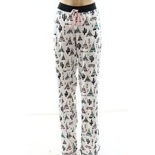 Cozy Zoe NEW White Womens Size XL Cactus Printed Lounge Pants Sleepwear