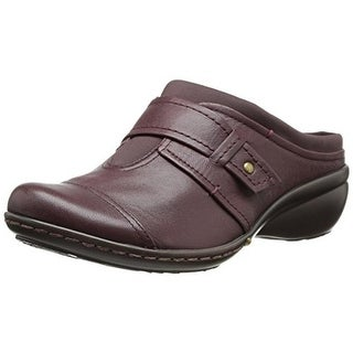 Easy Spirit Womens Espaving Leather Casual Clogs