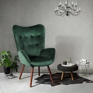 Link to Carson Carrington Falltorp Velvet Tufted Accent Chair Similar Items in Accent Chairs