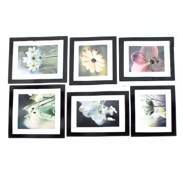 Home Living Room Decor 6 in 1 Flower Pictures 3D Wall Stickers Set Decal