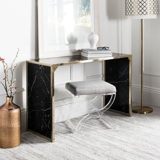 """Link to SAFAVIEH Kylie Black/ Brass Console Table - 48"""" x 18"""" x 30"""" Similar Items in Living Room Furniture"""