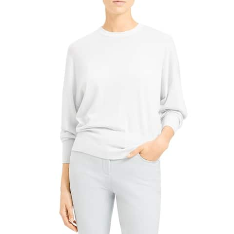 Theory Womens Sweater Crew Neck Ribbed - Mist Blue