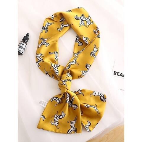 Original Floral Sun-Protection Silk Scarf - FREE SIZE
