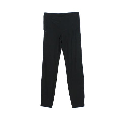 Hue Solid Black Womens Size Small S Pull On Stretch Legging Pants