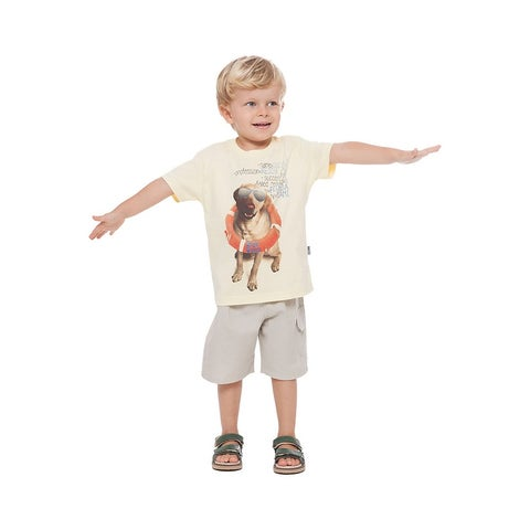 Toddler Boy Short Sleeve Shirt Little Boy Graphic Tee Pulla Bulla 1-3 Years