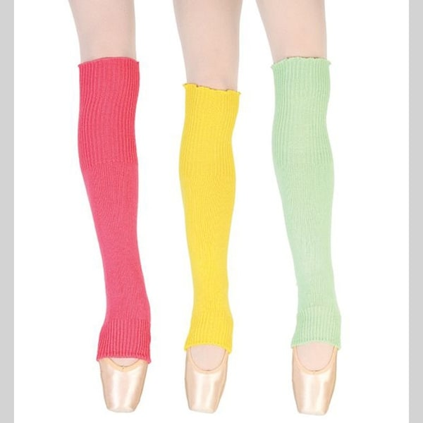 Sansha Little Girls Multi Color Solid Stirrup Acrylic Dance Leg Warmers