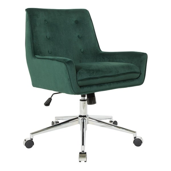 OSP Home Furnishings Quinn Office Chair with Faux Velvet. Opens flyout.