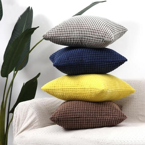 "Super Soft Solid Velvet Decorative Plush Pillow Cover for Couch, Sofa 18"" x 18"""