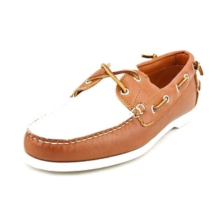 Ralph Lauren Telford II Men  Moc Toe Leather  Boat Shoe