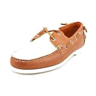Ralph Lauren Telford II Men  Moc Toe Leather  Boat Shoe