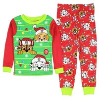 Paw Patrol Christmas Holiday Toddler Unisex Pajamas Sleepwear