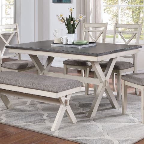 Furniture of America Paiz Transitional 60-inch Dining Table