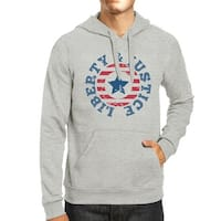 Liberty & Justice Unisex Graphic Hoodie Gift Grey Crewneck Pullover
