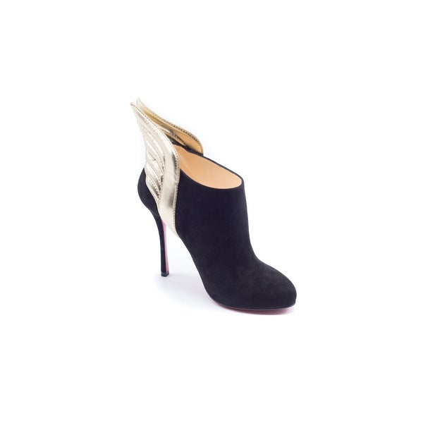 c471824f0c6 Shop Christian Louboutin Mercura Leather Suede Ankle Boots Size ...