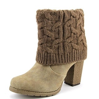 Muk Luks Chris Foldeover Round Toe Synthetic Ankle Boot