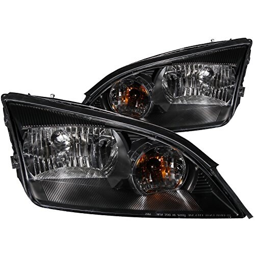Shop Anzo Usa 121229 Ford Focus Black Clear Headlight
