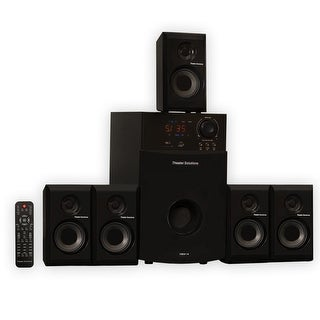 Theater Solutions TS514 Home Theater 5.1 Speaker System Powered with USB / SD