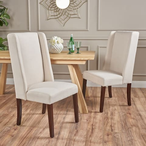 Rory Contemporary Fabric Wingback Dining Chair (Set of 2) by Christopher Knight Home