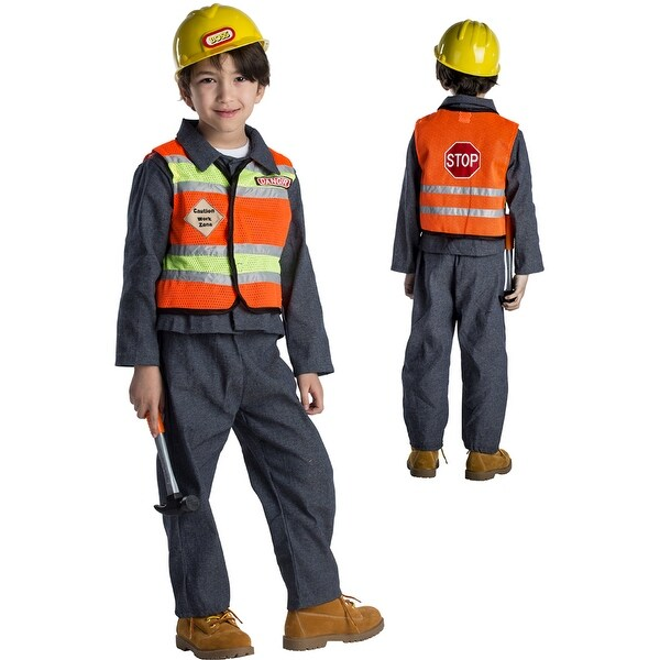 Kids Construction Worker Halloween Costume  sc 1 st  Overstock.com & Kids Construction Worker Halloween Costume - Free Shipping On Orders ...