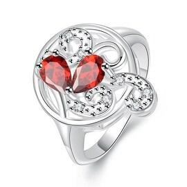 Duo-Mock Sapphire Crystal Swirl Petite Ring