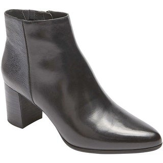 Rockport Women's Total Motion Lynix Luxe Bootie Black Leather