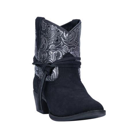"Dingo Fashion Boots Womens 6"" Shaft Valerie Round Toe Black"