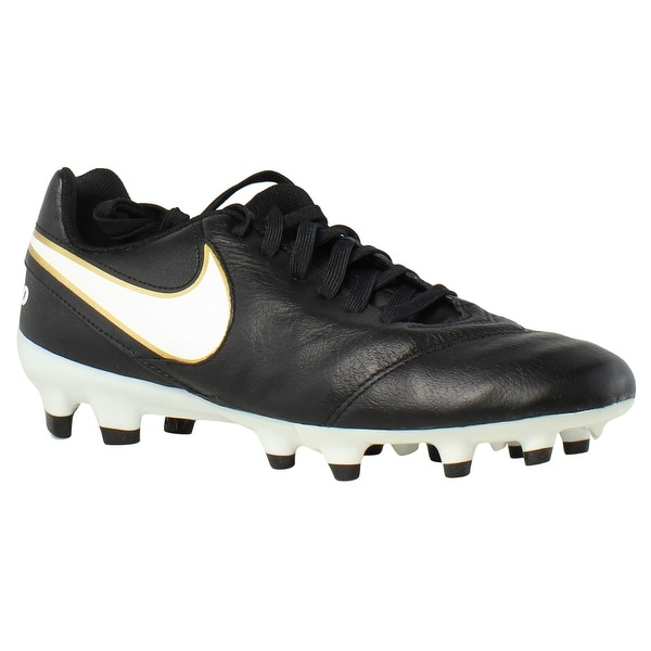 621a7a957 Shop Nike Mens Tiempo Genio Ii Black Soccer Cleats Size 6 - Free ...