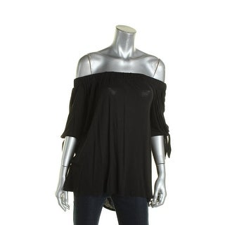 K&C Womens Casual Top Tie Sleeves Off-The-Shoulder
