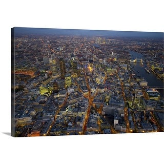 """""""Over the City of London at Night"""" Canvas Wall Art"""