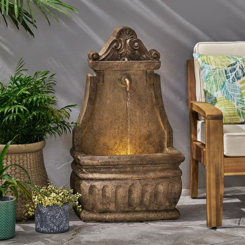 Finley Outdoor Outdoor Single Spout Fountain by Christopher Knight Home