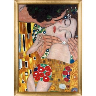 Gustav Klimt 'The Kiss, Close-Up' Hand Painted Oil Reproduction