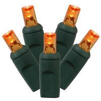 4' x 6' Orange LED Net Style Christmas Lights - Green Wire