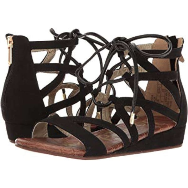 Kids Sam Edelman Girls Danica Lace Up Lace Up Ankle Strap Wedge Sandals -  12.0 M 087d921a95f5