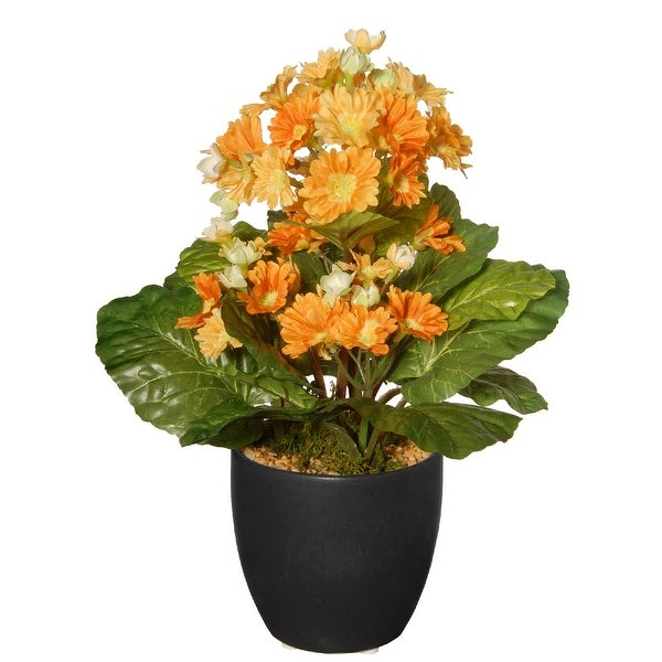 """12"""" Potted Primula Artificial Plant - N/A"""