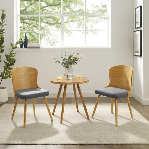 Carson Carrington Rogaland Modern Bamboo 3-piece Mid-century Dining Set