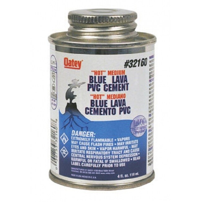 Oatey 32160  PVC Blue Lava Hot Cement, 4 Oz.