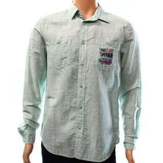 Buffalo David Bitton NEW Green Mens Size XL Stripe Button Down Shirt