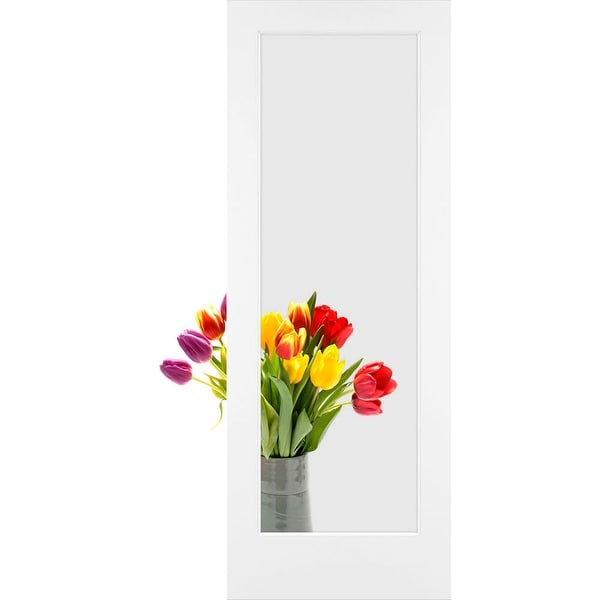 "Frameport CGL-PD-1L-6-2/3X2-2/3 Clear Glass 32"" by 80"" 1 Lite Interior Slab Passage Door"
