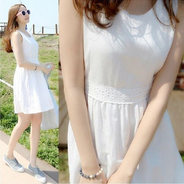 9ac1fcd524 Shop Summer Women Plus Size Dresses Slim Sleeveless Vest Mini Dress ...