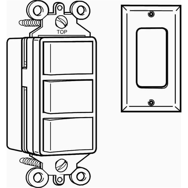 shop cooper wiring devices 3283v decora switch triplex ivory - free  shipping on orders over $45 - overstock - 24889719