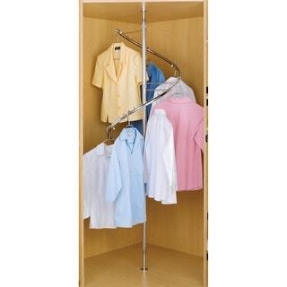"Rev-A-Shelf SHR-3684  SHR Series 360 Degree 72.5 - 84"" Tall Spiral Clothes Rack - Chrome"