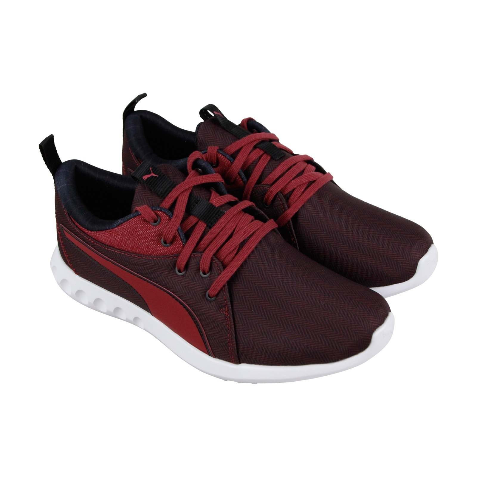 d3680f69c9 Shop Puma Carson 2 Menswear Mens Red Textile Athletic Lace Up Running Shoes  - Free Shipping On Orders Over  45 - Overstock - 27193412 - 7