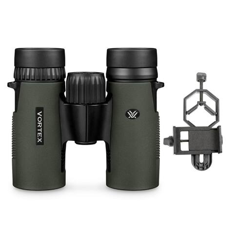 Vortex 8x32 Diamondback HD Roof Prism Binoculars with Phone Adapter