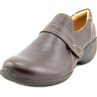 Naturalizer Josefa-brn Women W Round Toe Leather Brown Clogs