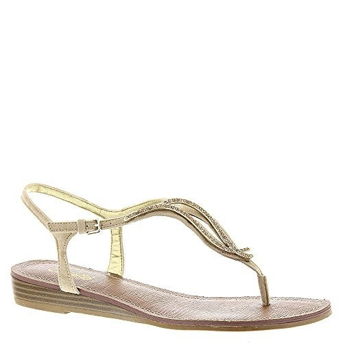 Carlos by Carlos Santana Womens Tindra Fabric Split Toe Casual T-Strap Sandals