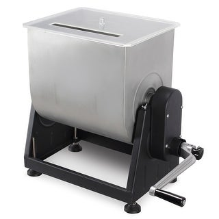 DELLA 7 Gallon, 44 Lbs Large Stainless Steel Manual Meat Mixer w/ Easy-to-turn Hand Crank